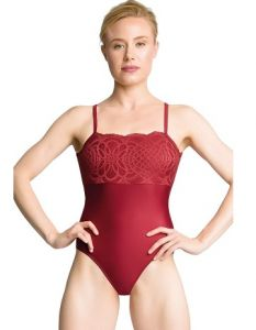 So Danca Sara Mearns Women's Shimmer Leotard with Lace Accents PL2044