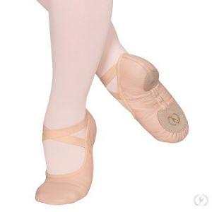 Eurotard Child Coupe Drawstring Free Leather Split Sole Ballet Shoe A2004C
