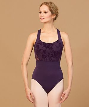 Bloch Women's Floral Mesh Wide Strap Leotard L7885