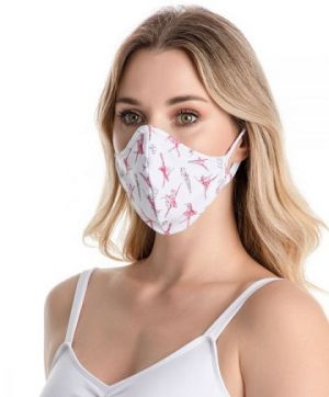 So Danca Adult Fitted Print Face Mask with Ear Loops RDE2176