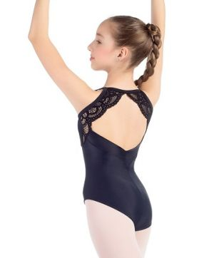 So Danca Sara Mearns Girls's Shimmer Leotard with Lace Accents L2025