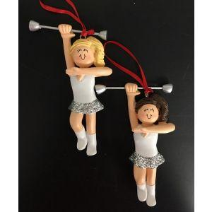 Baton Twirler Ornaments Blonde or Brunette
