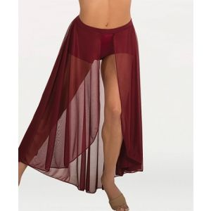 Body Wrappers Long Chiffon Skirt with Fabric Covered Elastic Waistband BW9105